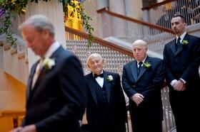 Men in tuxedos at Art Institute of Chicago