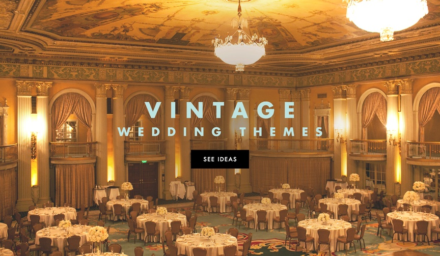 Vintage wedding ideas for ceremony and reception