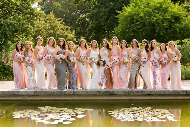 d1384f03595d Brides & Bridesmaids Photos - Pink Mismatched Bridesmaid Dresses ...
