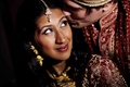Bridal makeup for Indian wedding dark lip and nose ring