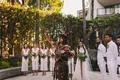 chumash elder performing wedding ceremony, native american bride