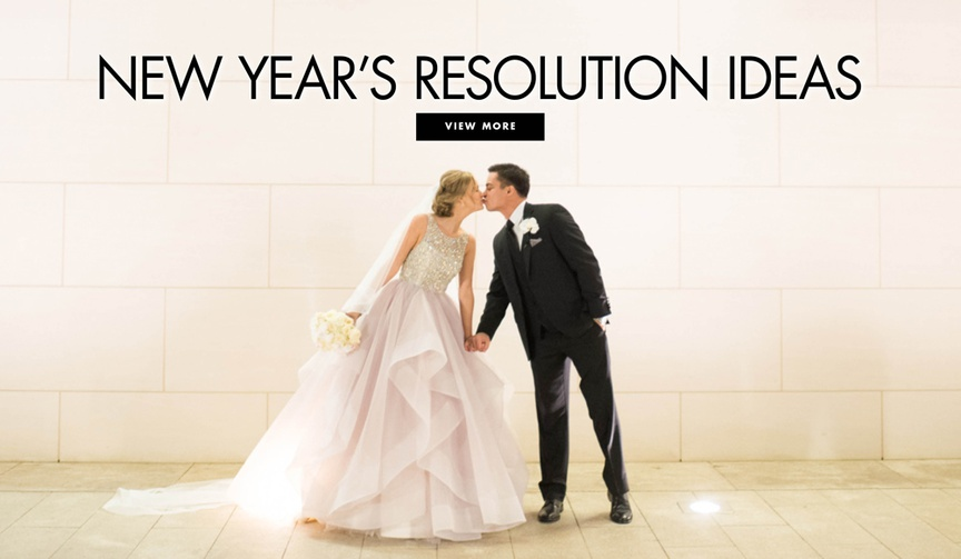 ideas for new year's resolutions, new year's resolutions for brides and grooms