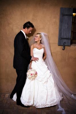 Scottsdale, Arizona wedding couple at Tuscan country club
