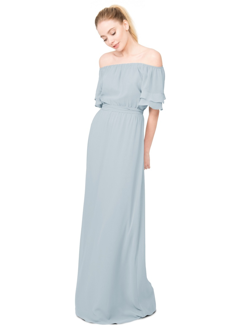 Stylish, bohemian, and feminine all in one, the Maggie dress has off-the-shoulder fluttering sleeves