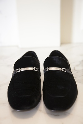 Ferragamo velvet men's shoes for wedding day