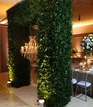 greenery arch chandelier dominican republic wedding reception royal details faux regal