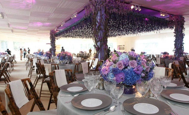 Whimsical Garden Themed Wedding Concept In Shades Of Purple Amp