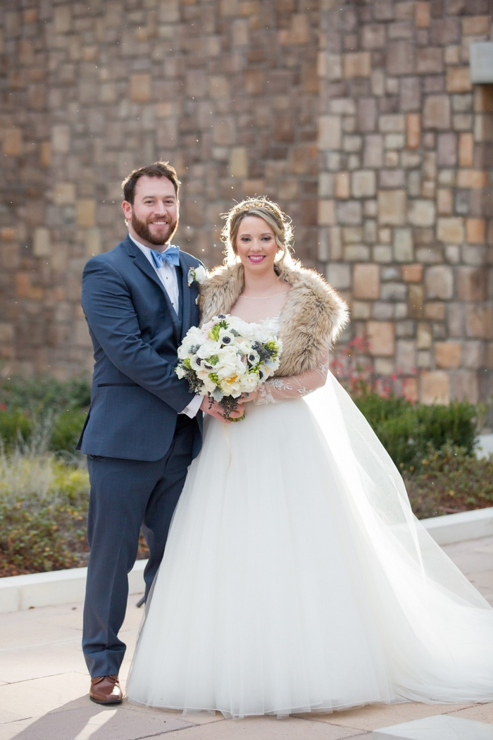 Couples Photos - Couple in Winter Wedding Attire, Embracing - Inside ...