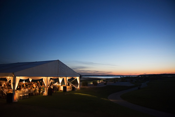 Tented reception at Colleton Riven Plantation Club in Hilton Head, SC