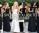 bridesmaids in black dresses holding champagne flutes, how to decide who should be a bridesmaid