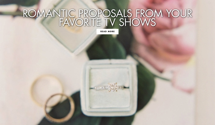 Romantic proposals from your favorite tv television shows