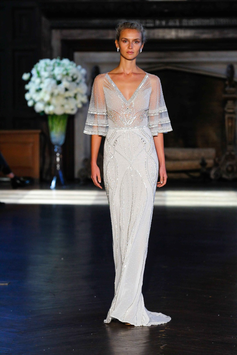 Art deco wedding dresses with sleeves