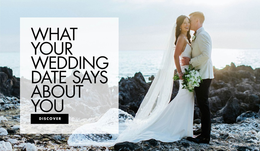 what your wedding date says about you wedding season