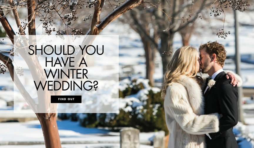 Should you have a winter wedding? Pros and cons for weddings in the winter months