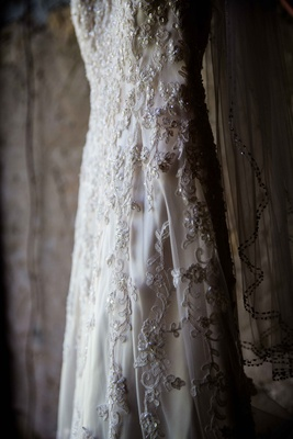 Maggie Sottero wedding dress close up embroidery detail
