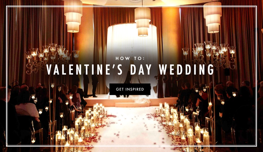 Valentine's Day wedding ideas with festive romantic theme