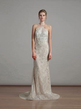 Liancarlo Spring 2018 bridal collection 6896 wedding dress chantilly halter neckline mermaid gown