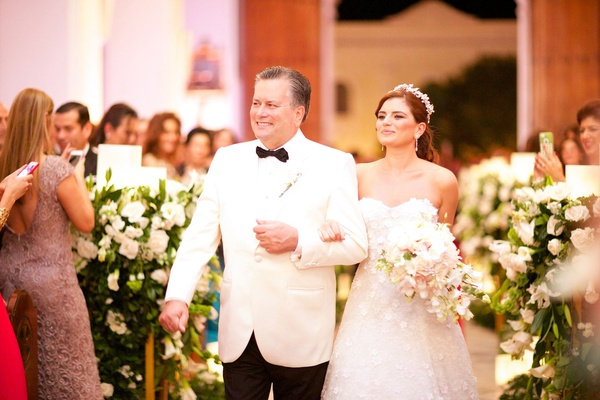 Francesca Miranda daughter Daneilla Jassir walked down aisle by father church colombia