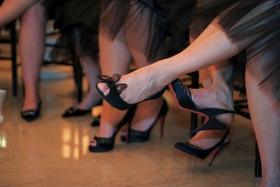 Black bridesmaid Louboutins in different styles