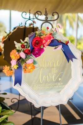mirror floral accents wedding hashtag information spanish flair wedding southern california