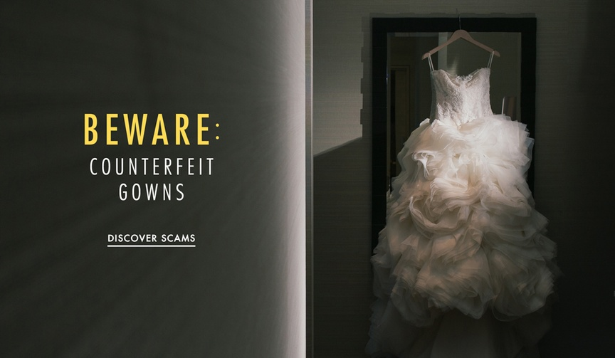 Advice for brides on buying a counterfeit fake wedding dress