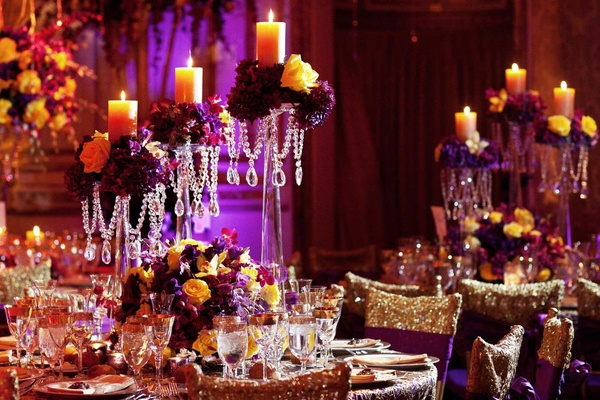 Beautiful cultural indian wedding in new york city inside weddings indian wedding reception tables and decor junglespirit