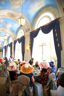 Ballroom with painted cloud ceilings for tea party