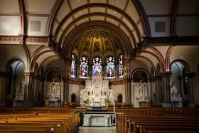 wedding ceremony traditional church De Paul University chicago catholic