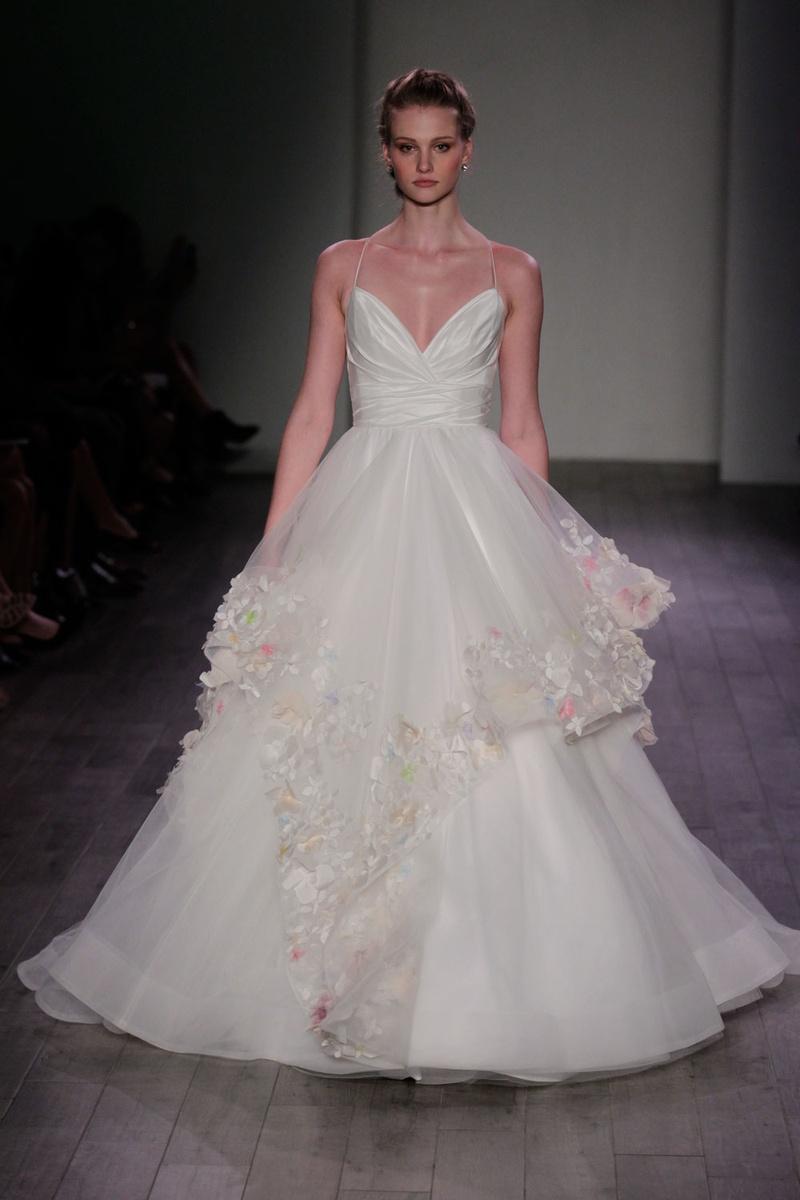 Wedding Dresses Photos - Floral Appliqué Gown by Hayley Paige 2016 ...