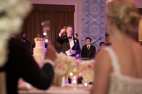 father of the bride toasts at rob refsnyder's wedding