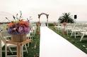 Oceanfront ceremony on hilltop