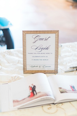 Guest book sign thank you for being here to celebrate with us it means the world photo book to sign