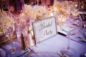 Rhinestone picture frame for wedding table numbers