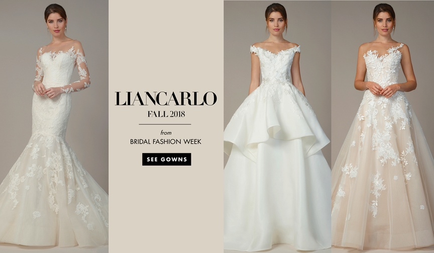See more wedding dresses from the fall 2018 bridal collection by Liancarlo.