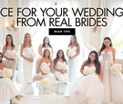 advice for your wedding day from real brides wedding advice from brides to be