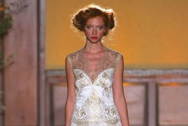 Gold and white lace Asscher gown by Claire Pettibone Gilded Age