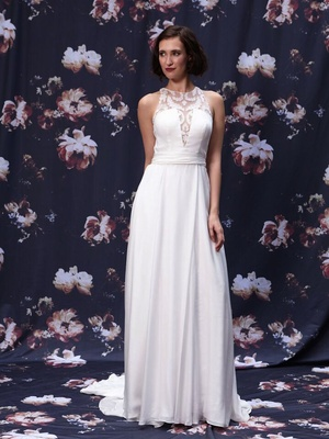 Racer cut wedding dress by Ivy and Aster Fall 2016