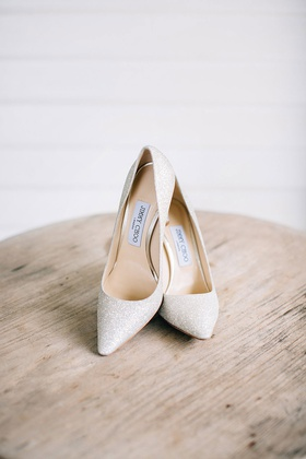 wedding shoes white glitter bridal heels pumps jimmy choo romy 100 style