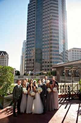 Bridesmaids And Groomsmen In Downtown Los Angeles
