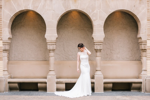 bride in lela rose