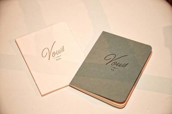 his and hers vow notebooks for the bride and groom to write their vows