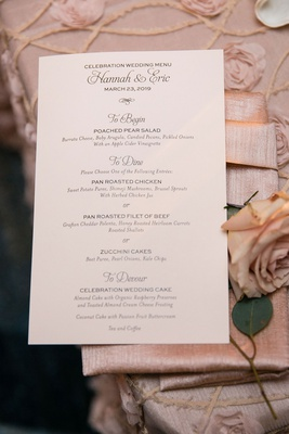 wedding recepetion menu simple elegant to begin to dine to devour celebration wedding menu