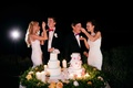 Cake feeding tradition, bride feeding groom cake,