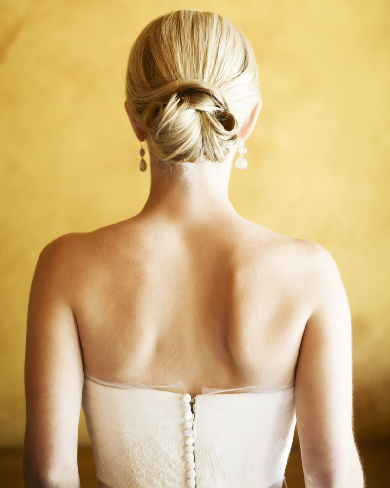 Beauty Photos Classic Chignon Hairstyle Inside Weddings