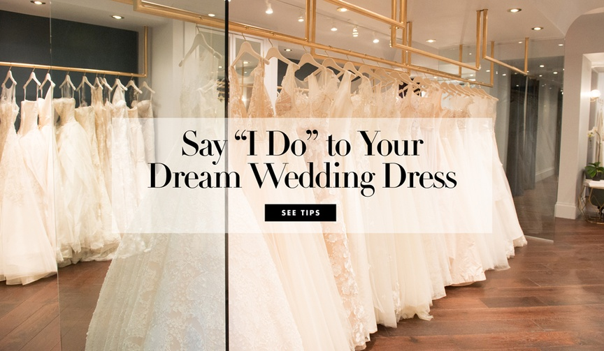 Carine Krawiec, owner of Carine's Bridal Atelier, shares her tips for finding the perfect wedding dr