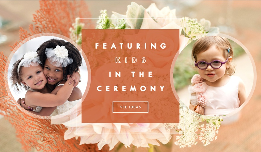 How to use children in your wedding ceremony