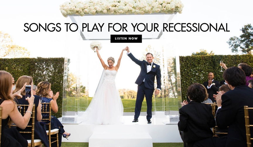 Wedding song ideas for your ceremony recessional