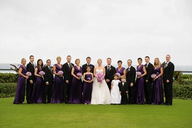 Morgan Pressel with bridesmaids and groomsmen