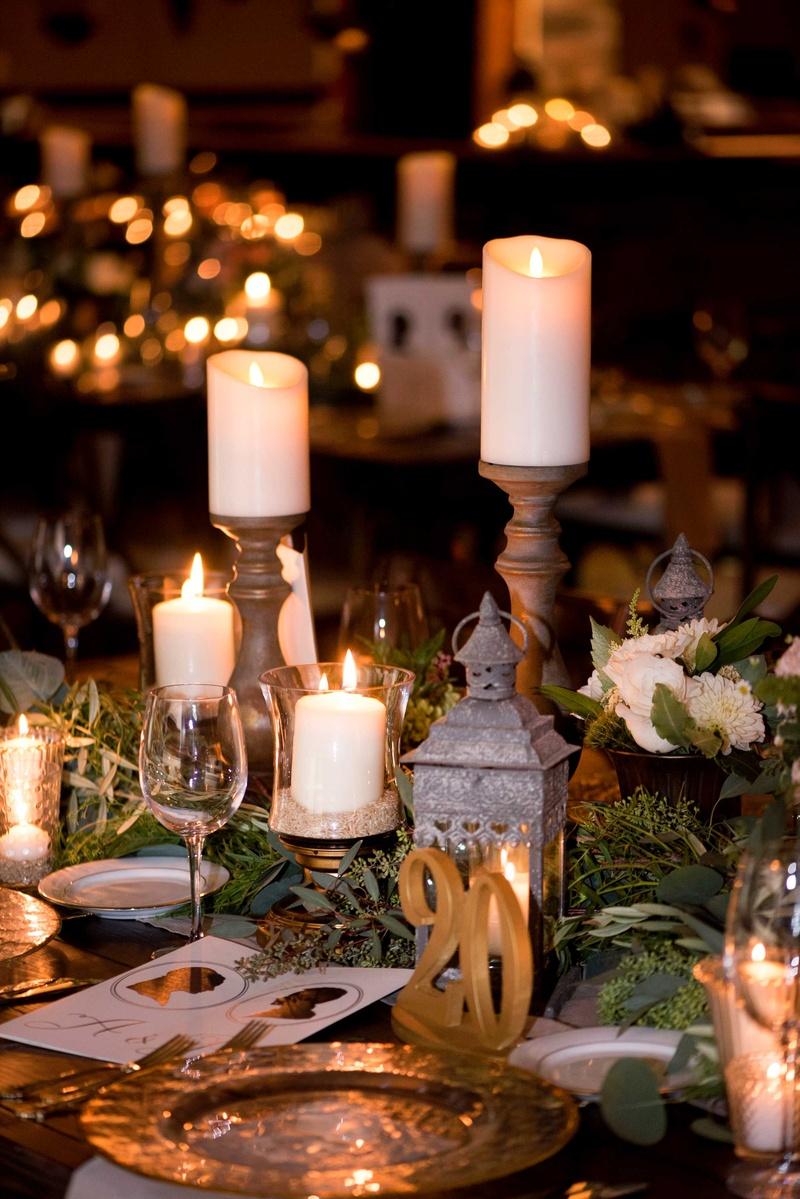 Rustic Centerpieces Diy : Reception décor photos pillar candles on tall stands
