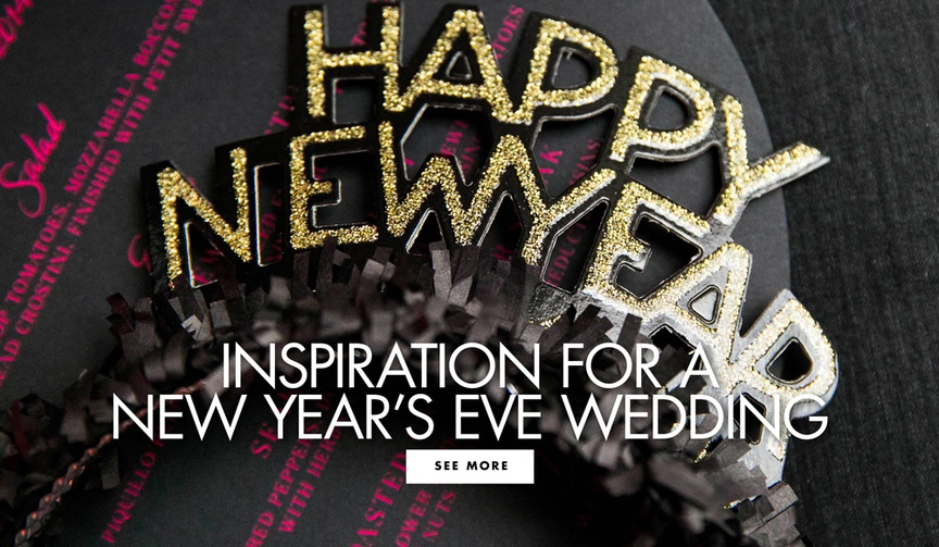Gather inspiration for your New Year's Eve wedding or party!